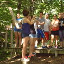 Freshman Retreat Day @ Adams Eden Camp. Ropes Course